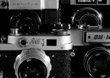 Почтовая открытка Старые фотоаппараты
