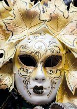 Почтовая открытка Венецианская маска