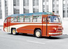 Почтовая открытка Автобус ЛАЗ-695