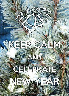 Почтовая открытка KEEP CALM and celebrate New Year