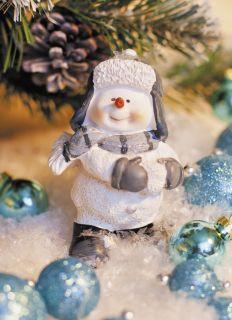 Почтовая открытка Снеговик - почтовик