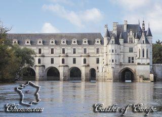 Почтовая открытка Замки Европы - Шенонсо