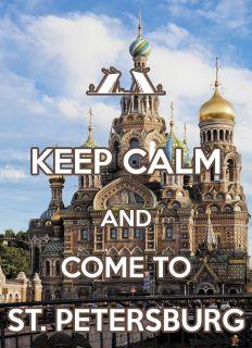 Почтовая открытка KEEP CALM and come to St. Petersburg
