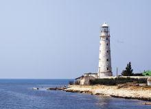 Почтовая открытка Тарханкутский маяк. Крым