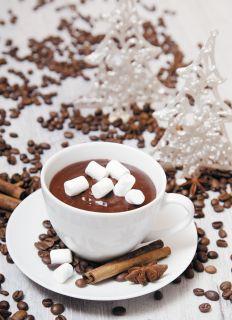 Почтовая открытка Сладости к новогоднему столу - шоколад
