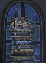 Почтовая открытка Книжный замок