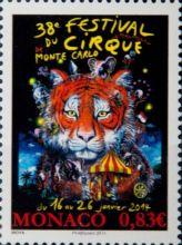 Почтовая открытка Monaco - 38 Festival du cirque