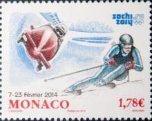 Почтовая открытка Monaco - Сочи 2014
