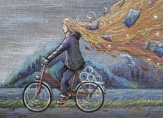 Почтовая открытка Велосипед по имени Кейт