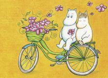 Муми-тролли на велосипеде